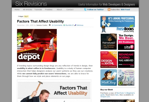 Factors that Affect Usability