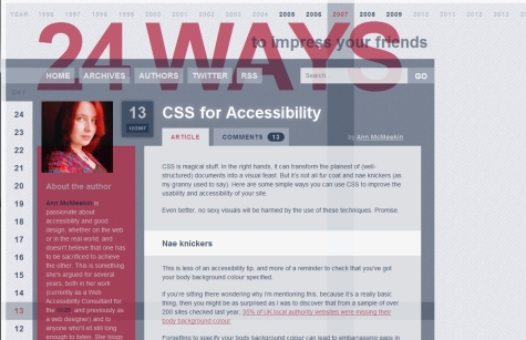 CSS for Accessibility