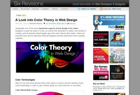 A Look into Color Theory in Web Design