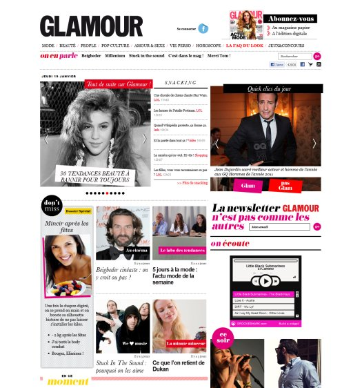 showcase of magazine style web designs vandelay design