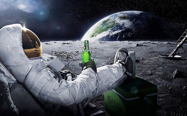 Relaxing on Moon