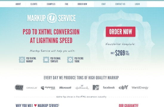 Comment to Win Free PSD to HTML Credits from Markup-Service.com