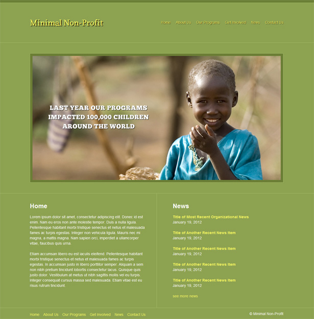 Minimal Non-Profit WordPress Theme