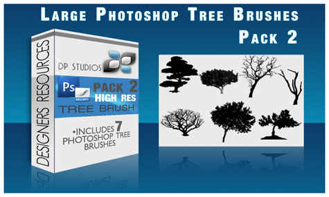 Tree Brushes Pack 2