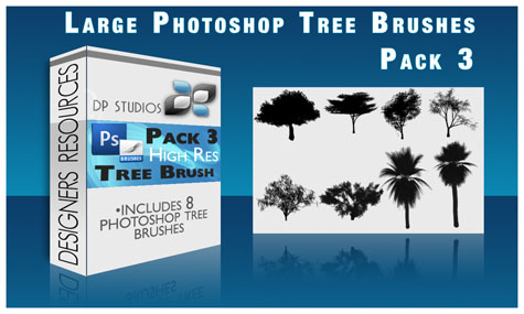 Tree Brushes Pack 3