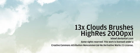 High Res Cloud Brushes