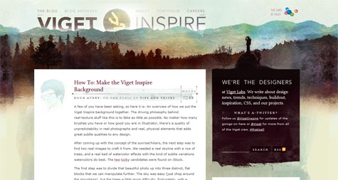 How to Make the Viget Inspire Background