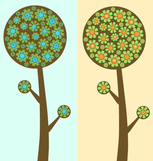 Flowered Trees