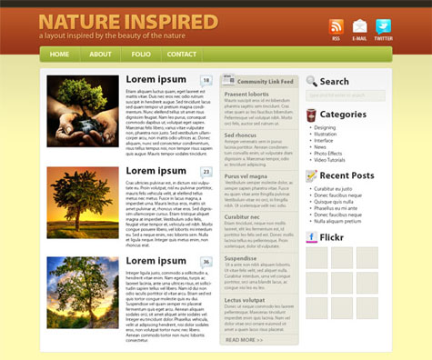 Create a Nature-Inspired WordPress Layout