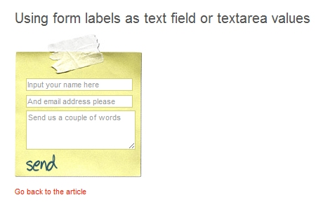 Using Form Labels as Text Fields