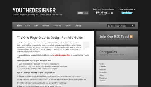 The  One Page Graphic Design Portfolio Guide