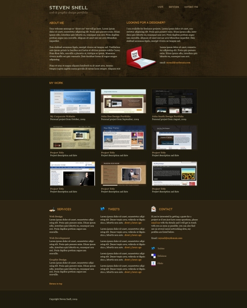 Design  an Attractive One-Page Portfolio Site Using Photoshop