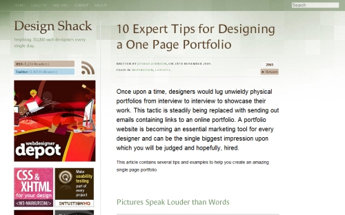 10  Expert Tips for Designing a One-Page Portfolio