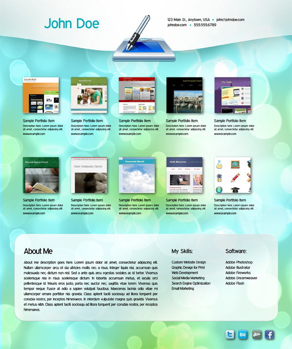 website designs templates free