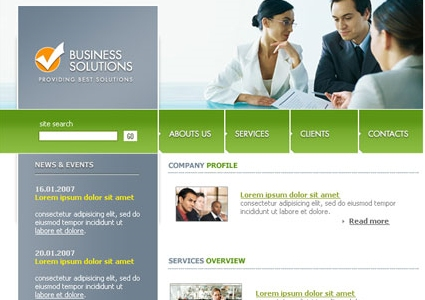 Professional Web Layout for Business Solutions