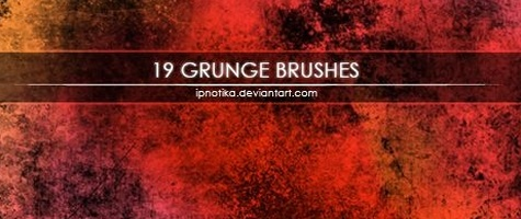 20-Grunge Strokes Brush Set By Jerry Jones.