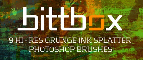 Grunge Ink Splatters
