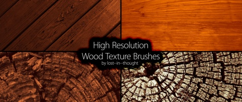 High-Res Wood Brushes