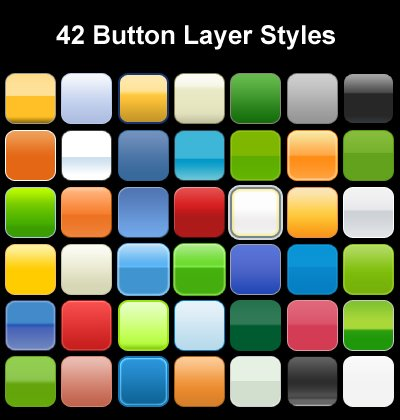 Layer Styles for Button Design