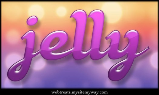 Colorful Jelly Text Styles