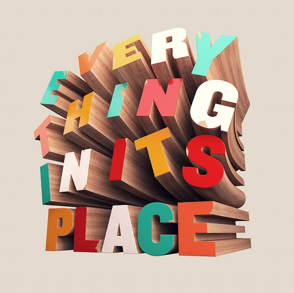 How to Create Colorful Wooden 3D Text