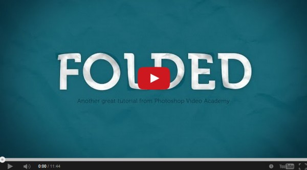 How to Create a Folded Paper Text Effect in Photoshop
