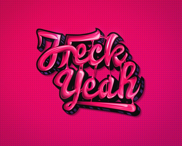Create a High-Gloss Bubble Gum Text Effect in Photoshop