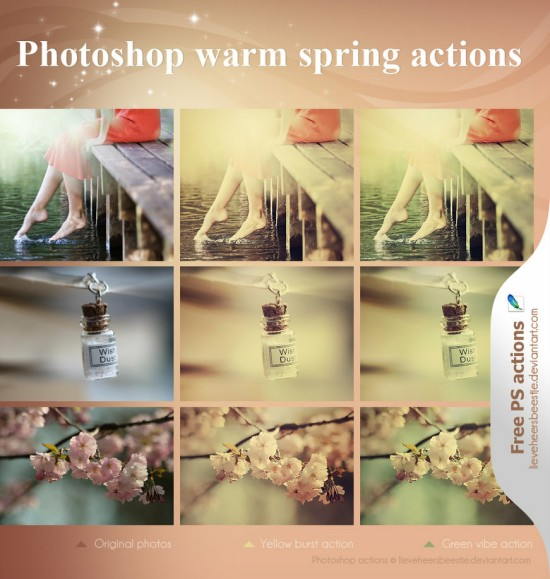 Photoshop Warm Spring Actions