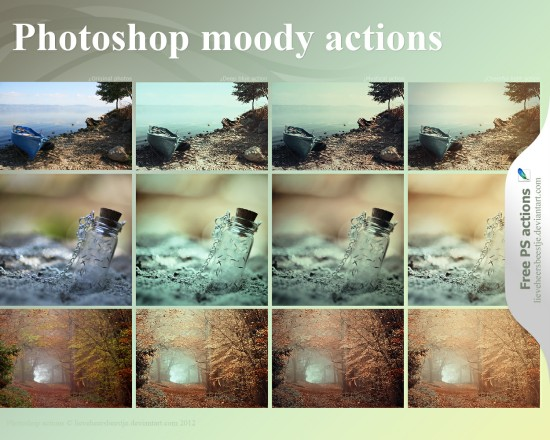 Photoshop Moody Actions