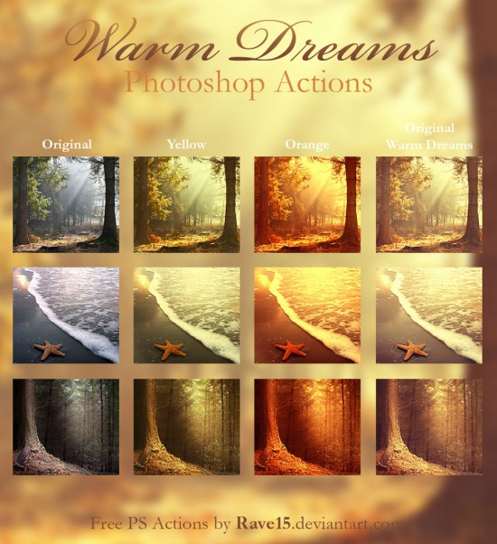 Warm Dreams Photoshop Actions