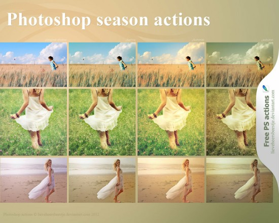 Photoshop Season Actions