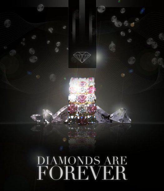 Design a Sleek Diamond Poster Advert
