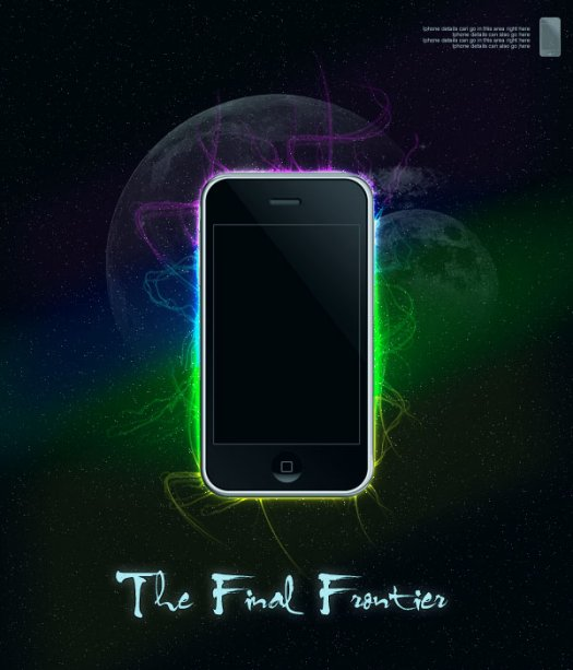 Design a Space Inspired iPhone Advert