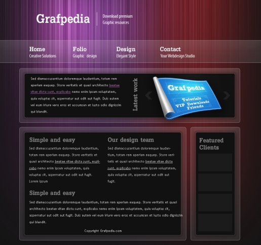 Graphic Design Studio Web Layout