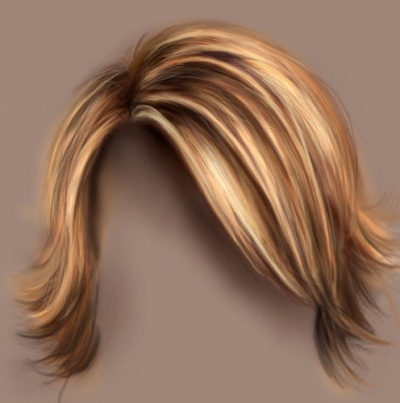 Drawing Hair with Photoshop