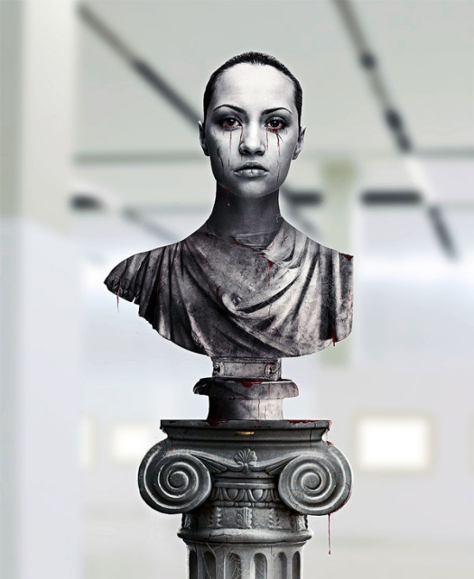 Create a Greek Sculpture Using Stock Photography and Photoshop