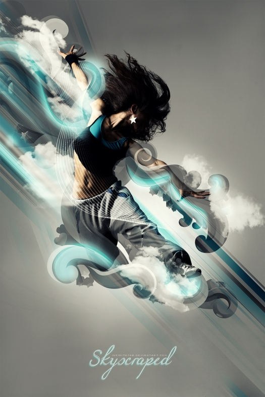 Create an Abstract Cloud Jumper in Photoshop