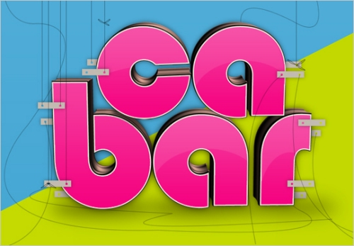 Create Glossy 3D Text Using Xara 3D and Photoshop