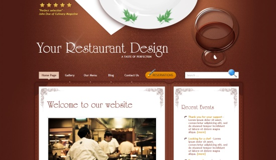 Restaurant Design WordPress Theme