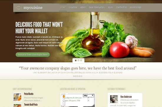 MyCuisine WordPress Theme
