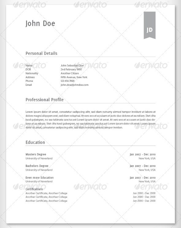 Modern and Elegant Resume