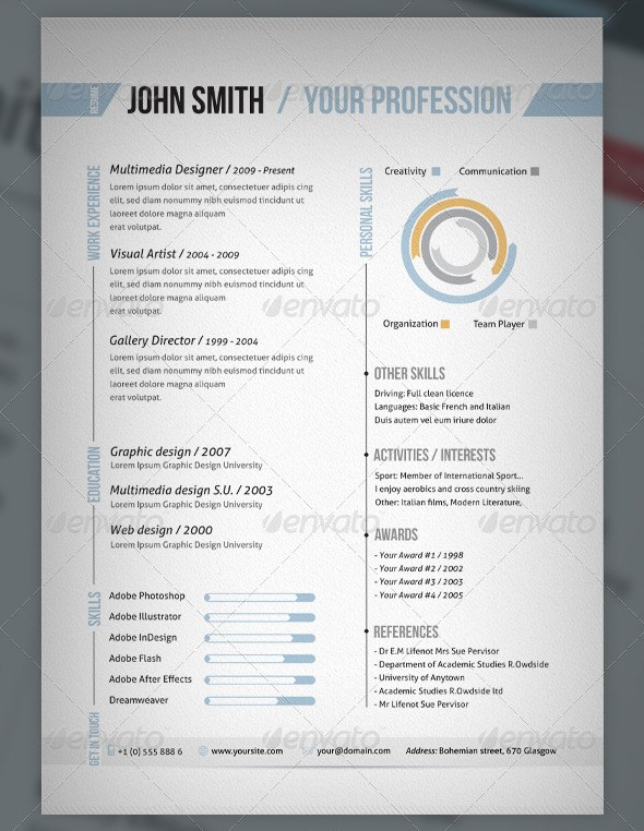 resume template indesign free download cs5 cs3