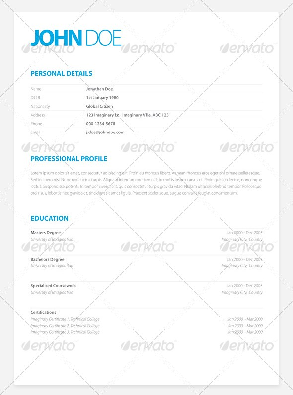 Resume Pixelpush Design