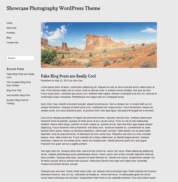 Showcase WordPress Photography Theme