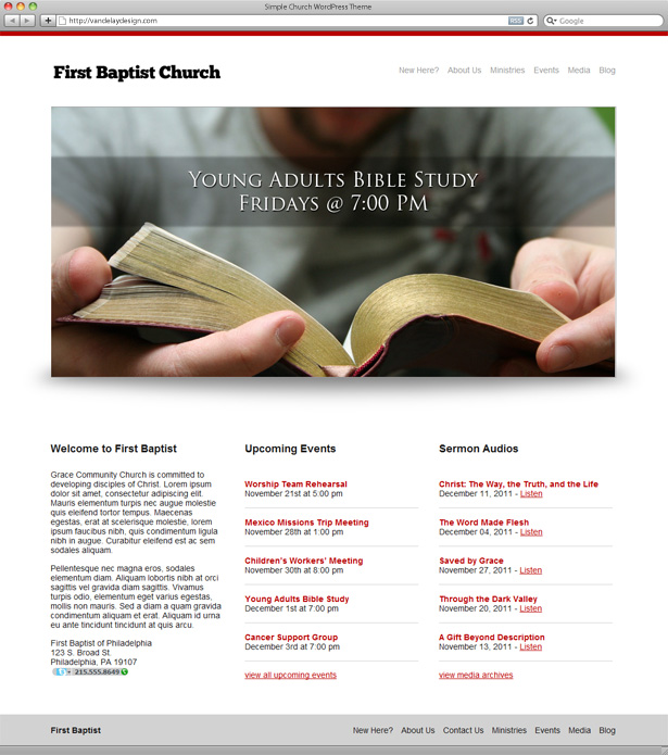 Simple Church WordPress Theme