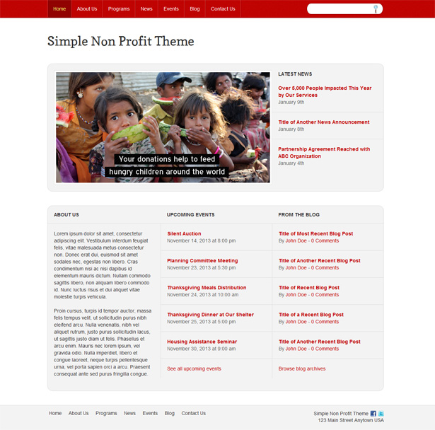 Simple Non-Profit WordPress Theme