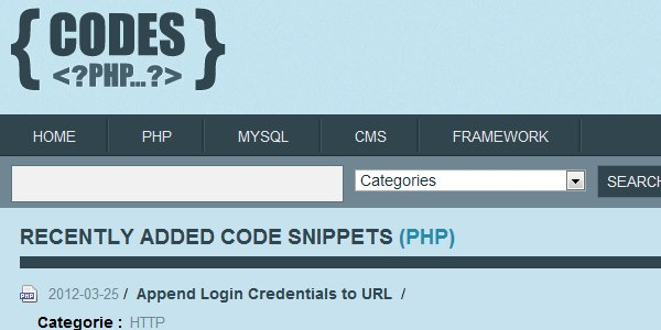 Codes PHP