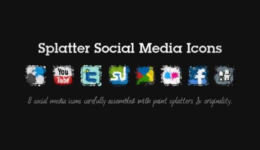 Splatter Social Media Icons