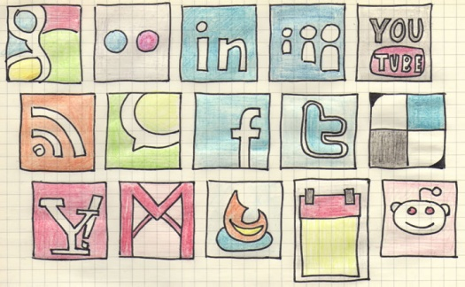 Hand-Drawn Social Media Icons