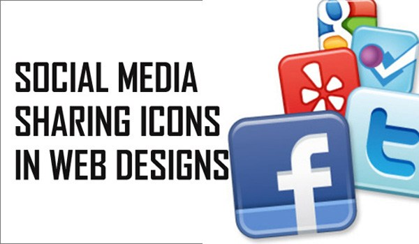 Social media sharing icons influence web designs